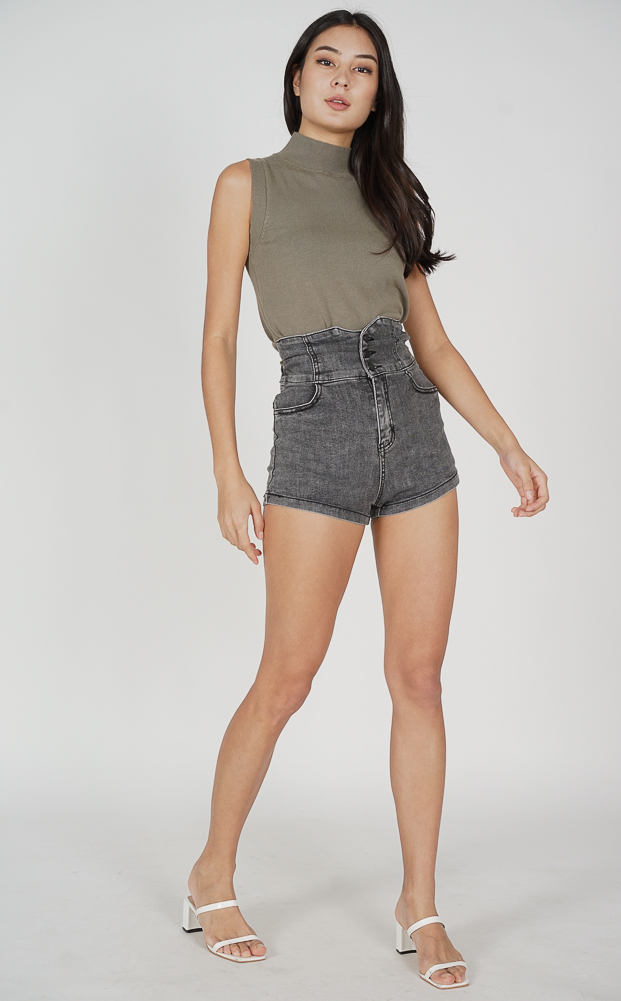 Daxton Halter Top in Ash Blue - Arriving Soon
