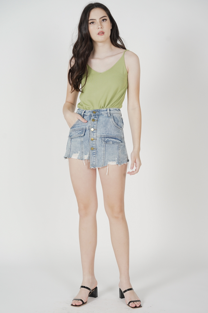 Madina Cami Top in Dusty Green - Online Exclusive