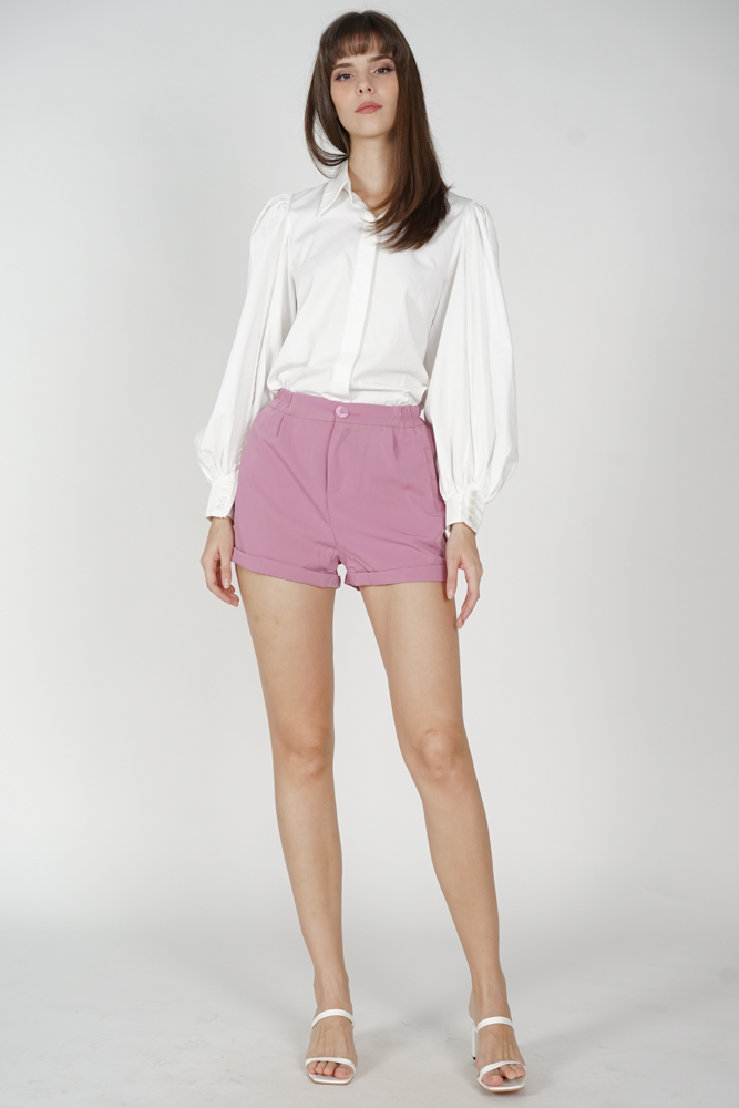 Gary Flared Shorts in Pink - Online Exclusive