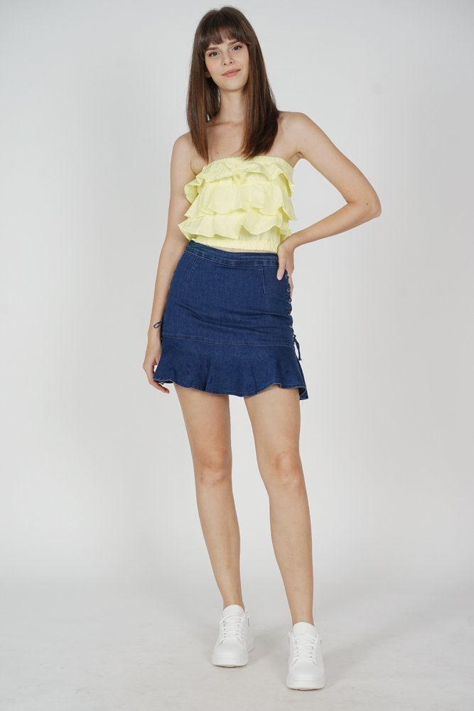 Chrysan Ruffled Top in Yellow - Online Exclusive