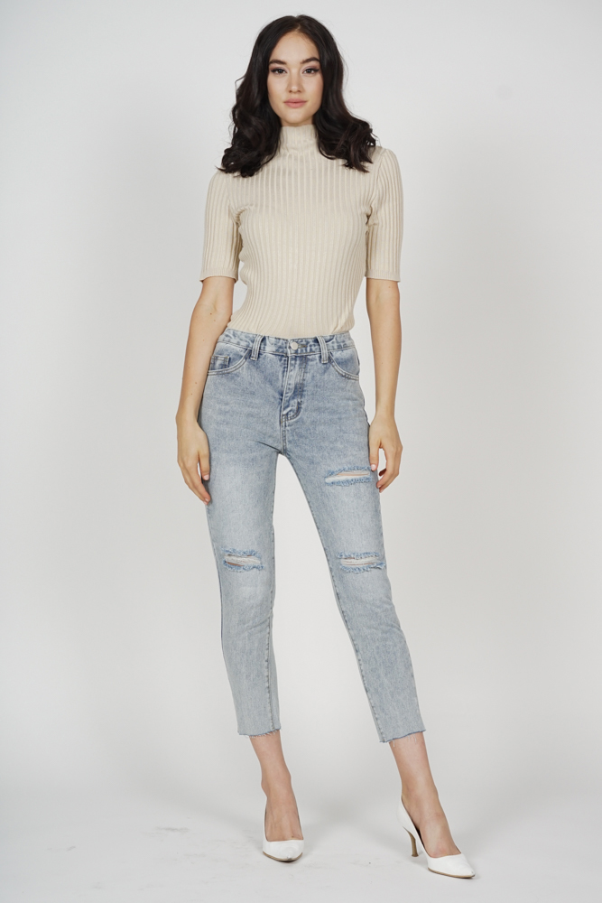 Husna Denim Jeans in Grey - Online Exclusive