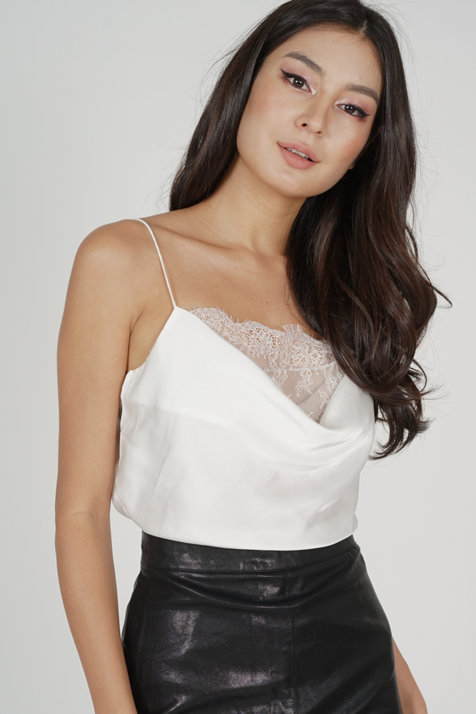 Lonya Cami Top in White - Online Exclusive
