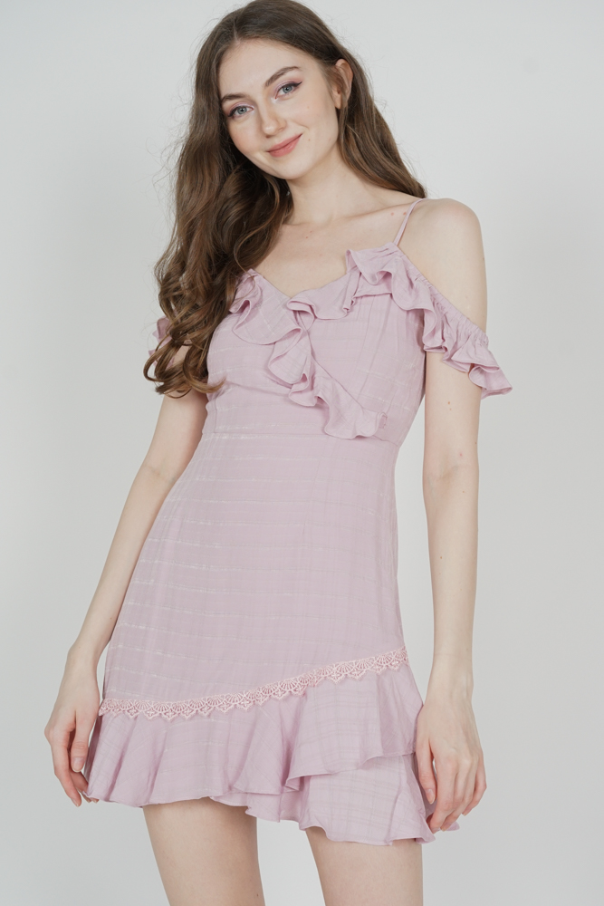 Frill Cami Dress in Pink