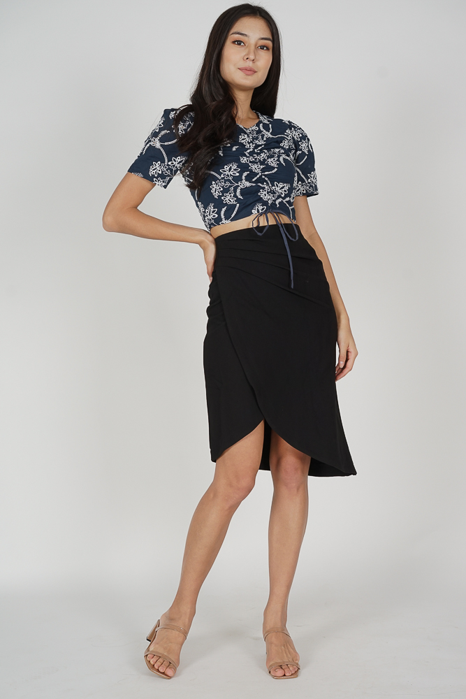 Ando Drape Skirt in Black - Online Exclusive