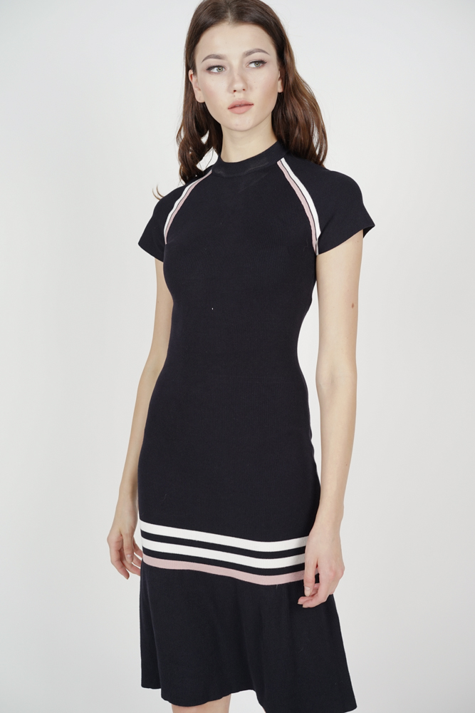 Tessa Knitted Dress in Black - Online Exclusive