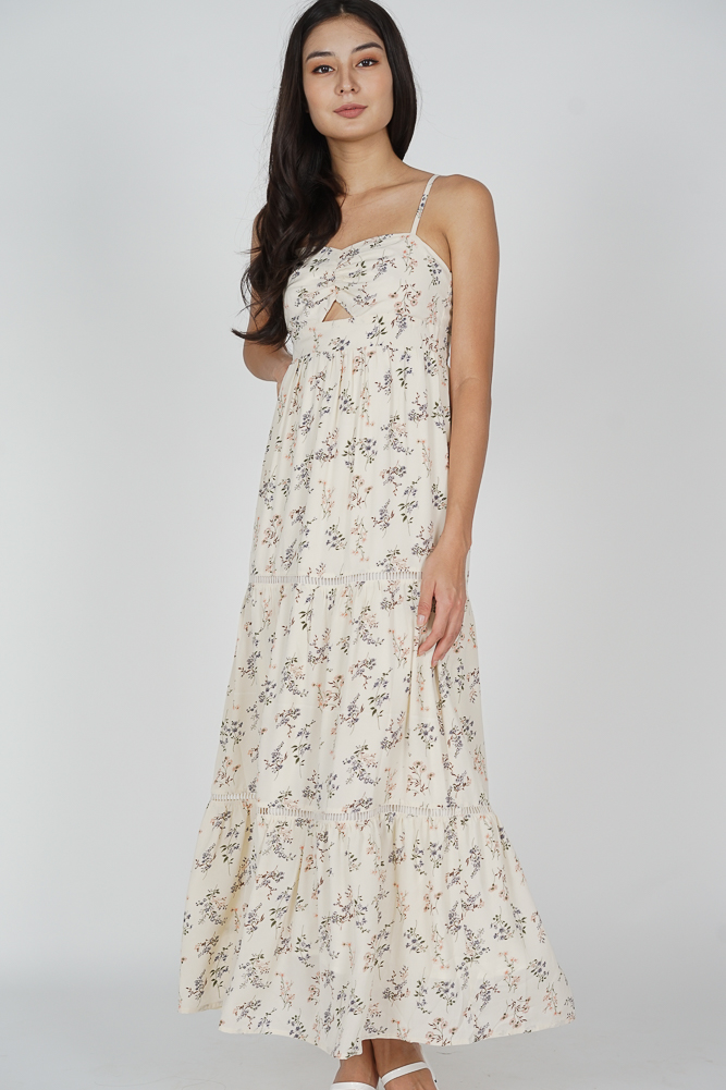 Arleth Maxi Dress in Cream Floral - Arriving Soon