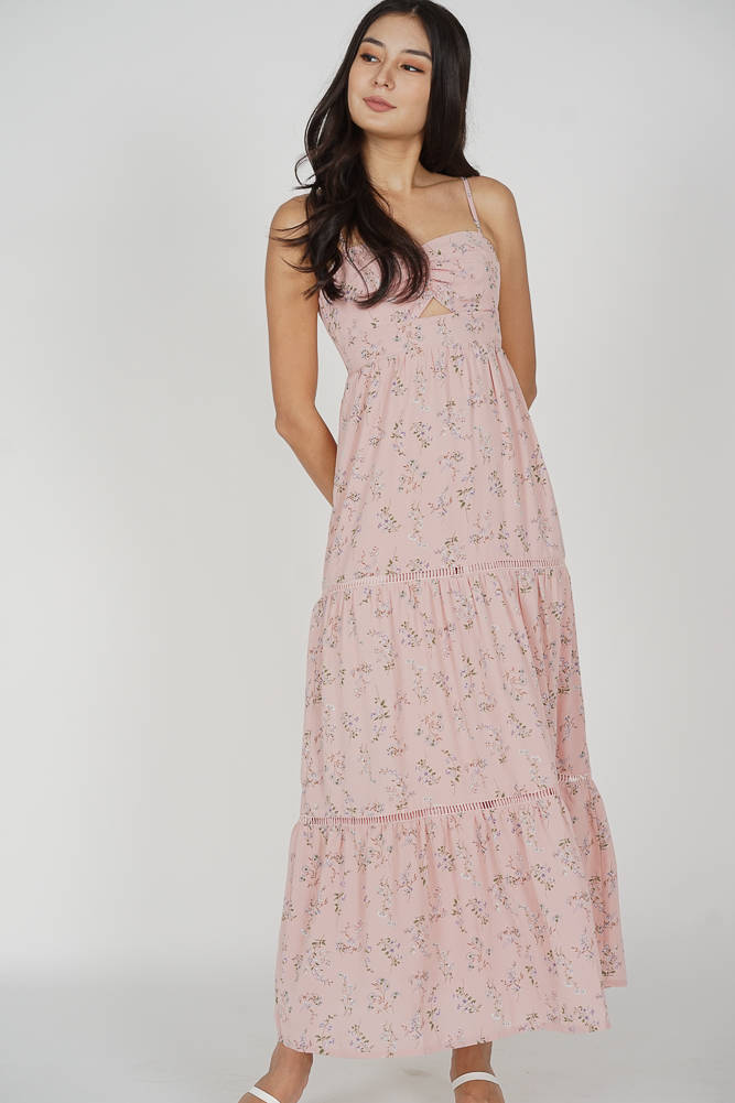 Arleth Maxi Dress in Pink Floral - Arriving Soon