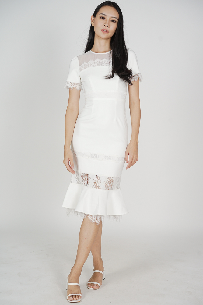 Sannie Gathered Dress in Pastel Abstract - Arriving Soon