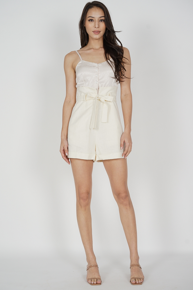 Toria Cami Romper in White Cream - Arriving Soon