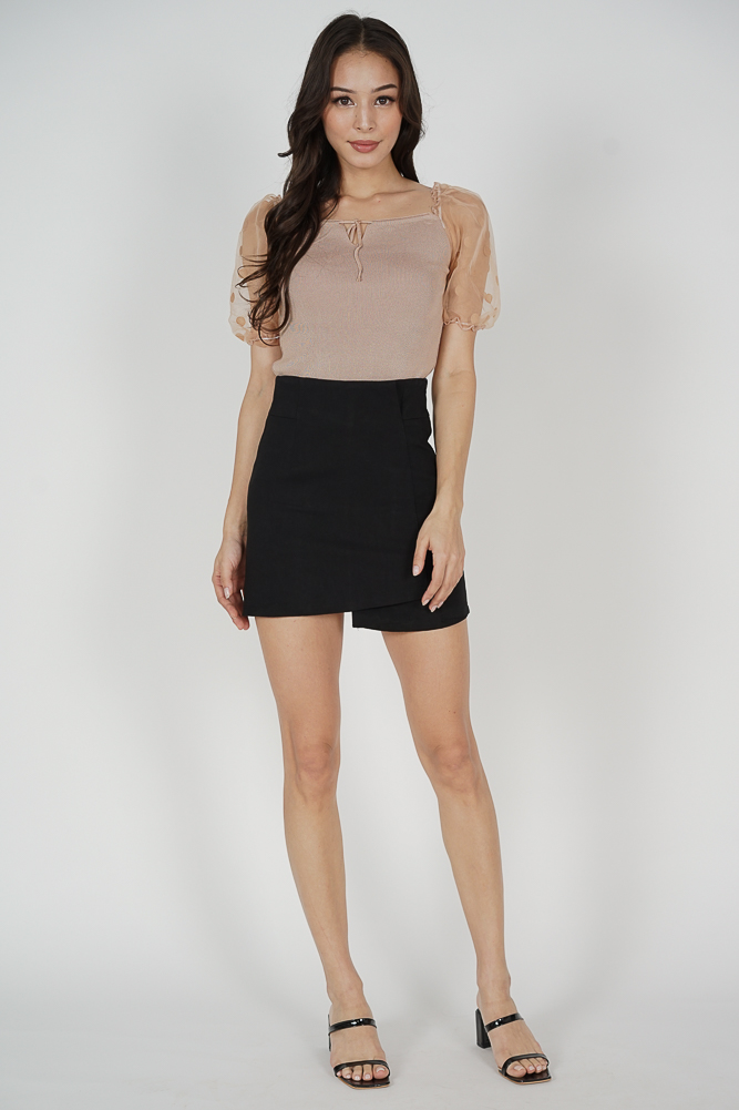 Kaebi Puffy Top in Nude - Online Exclusive