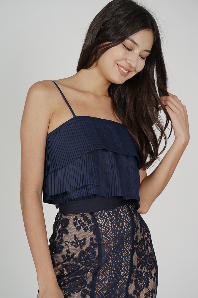 Renie Tiered Top in Midnight - Arriving Soon