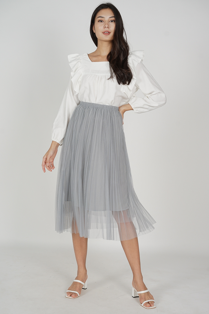 Regini Tulle Skirt in Grey - Online Exclusive