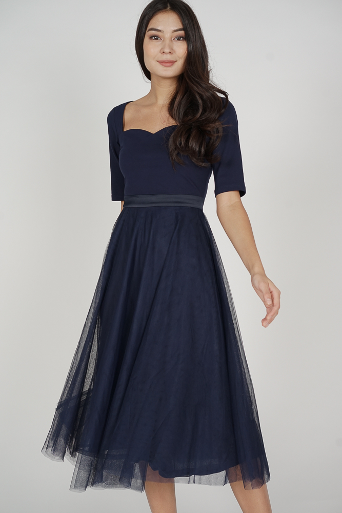 Annalyn Tulle Dress in Midnight - Arriving Soon