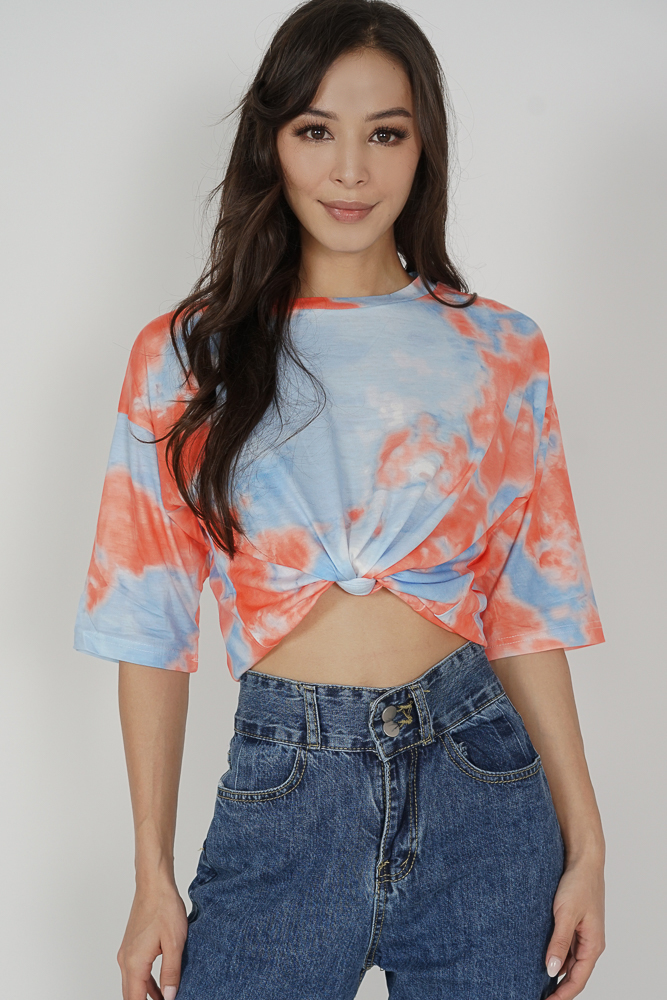 Kobie Tie Dye Shirt in Blue Orange - Online Exclusive