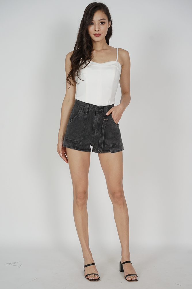 Amisa High Waist Shorts in Black - Arriving Soon