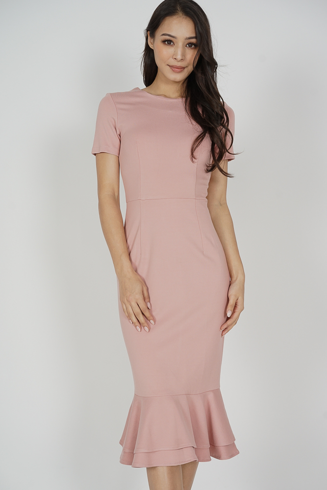Claire Mermaid Dress in Pink