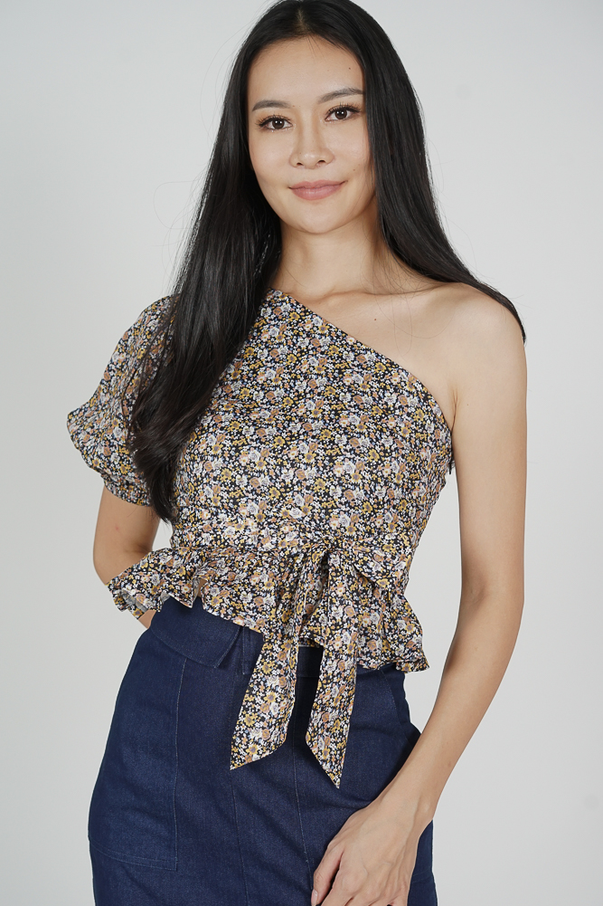 Blanco Toga Top in Yellow Floral - Arriving Soon