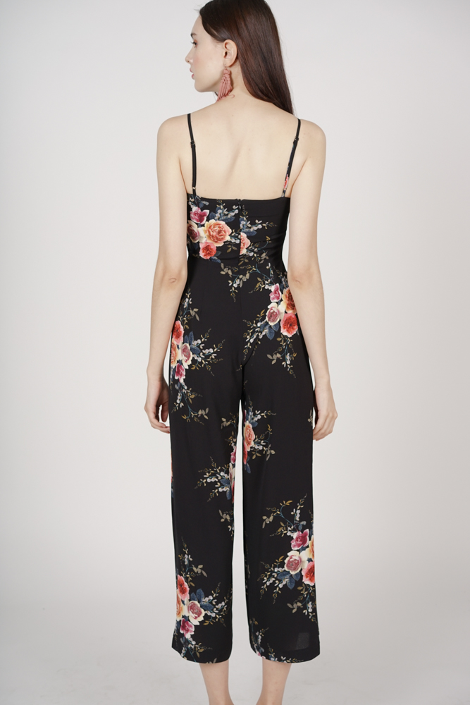 Contemporary Cami Jumpsuit in Black Floral