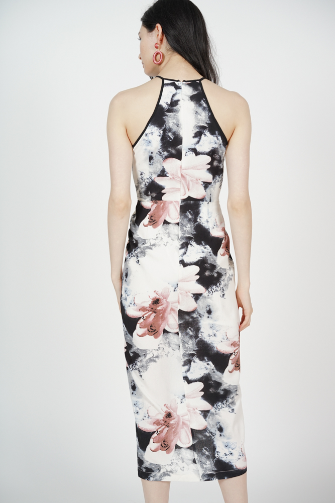 Wedelia Halter Dress in White