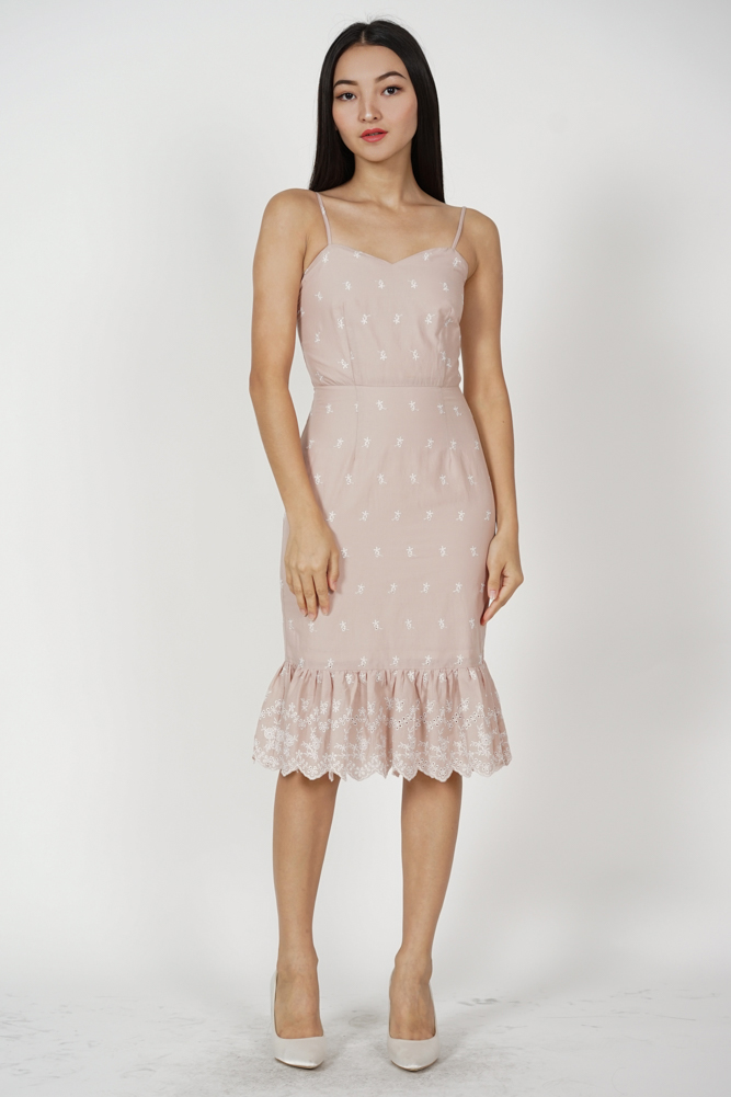 Gloria Mermaid Dress in Blush Pink - Arriving Soon