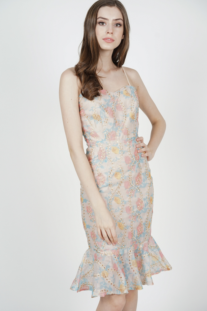 Gloria Mermaid Dress in Multi - Arriving Soon