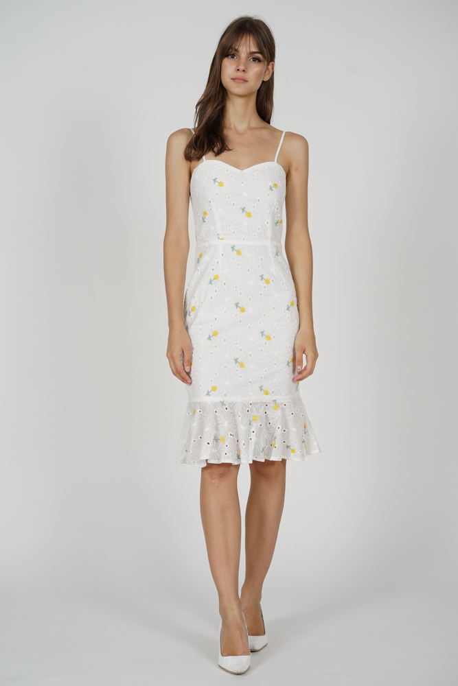 Gloria Mermaid Dress in Yellow Floral - Arriving Soon
