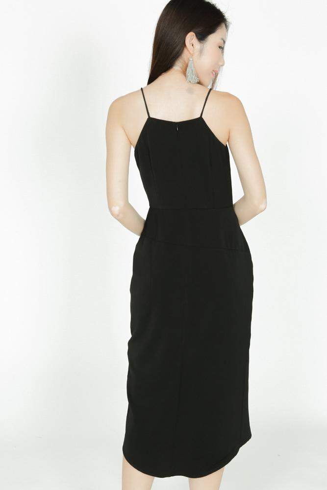 Alyssa Midi Dress in Black