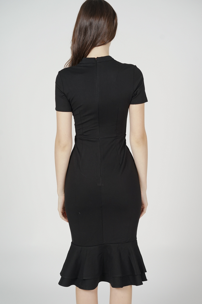 Mermaid Bodycon Dress in Black - Arriving Soon