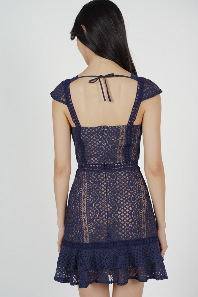 Lace Mesh Dress in Midnight - Arriving Soon