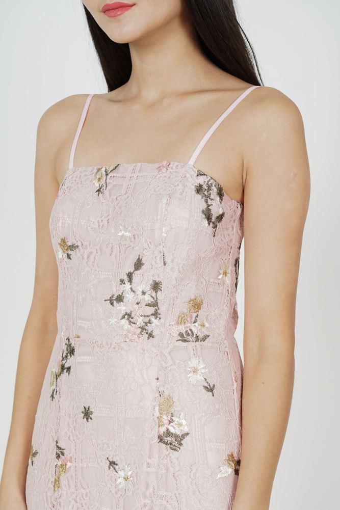 Gaura Ruffled Dress in Pink Floral - Arriving Soon