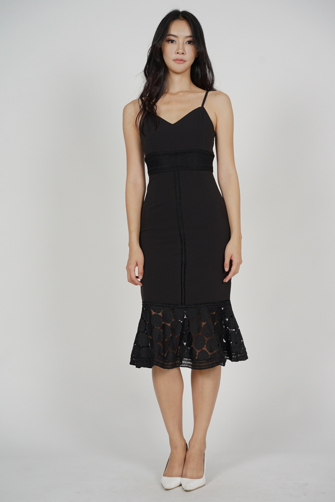 Bellari Lace Dress in Dusky Black - Arriving Soon