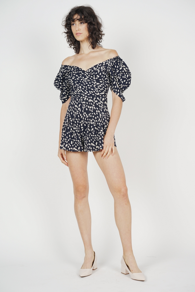 Annabelle Puff Romper in Midnight - Arriving Soon
