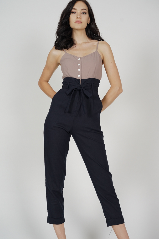 Aster Cami Jumpsuit in Brown Midnight