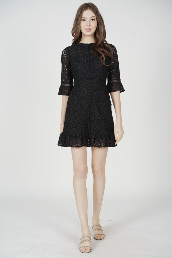 Dallon Lace Dress in Black