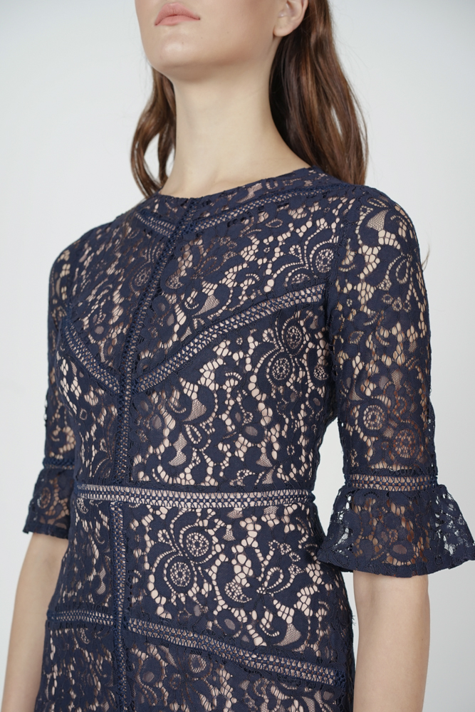 Georgia Lace Dress in Midnight