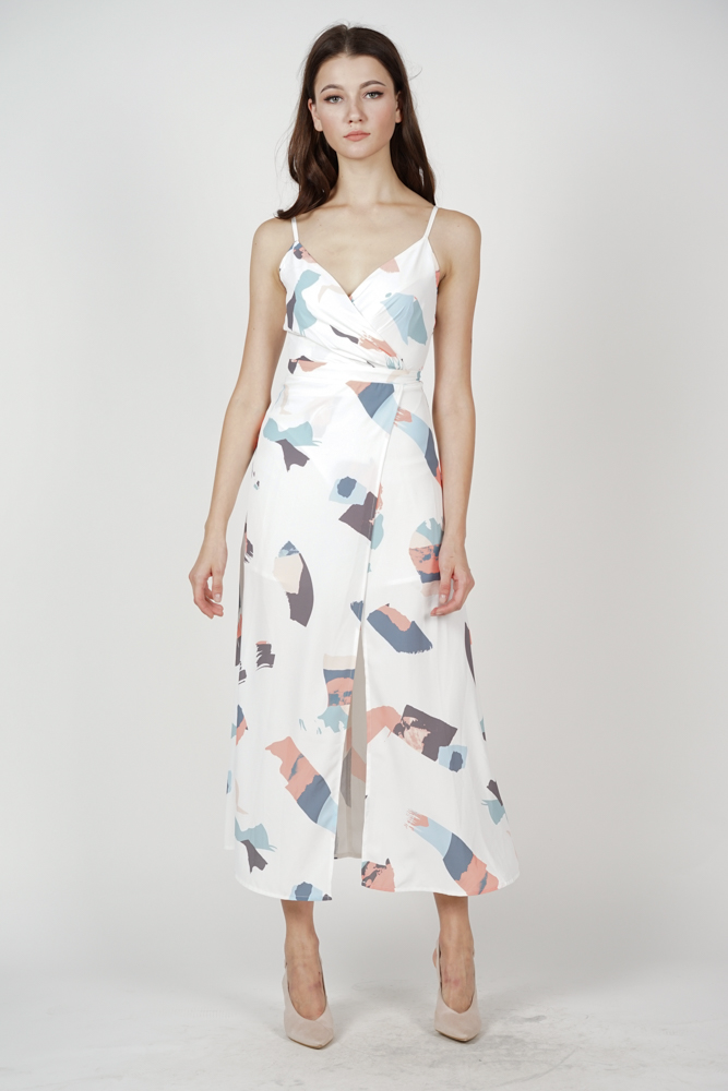 Flavia Maxi Dress in White Brush - Arriving Soon