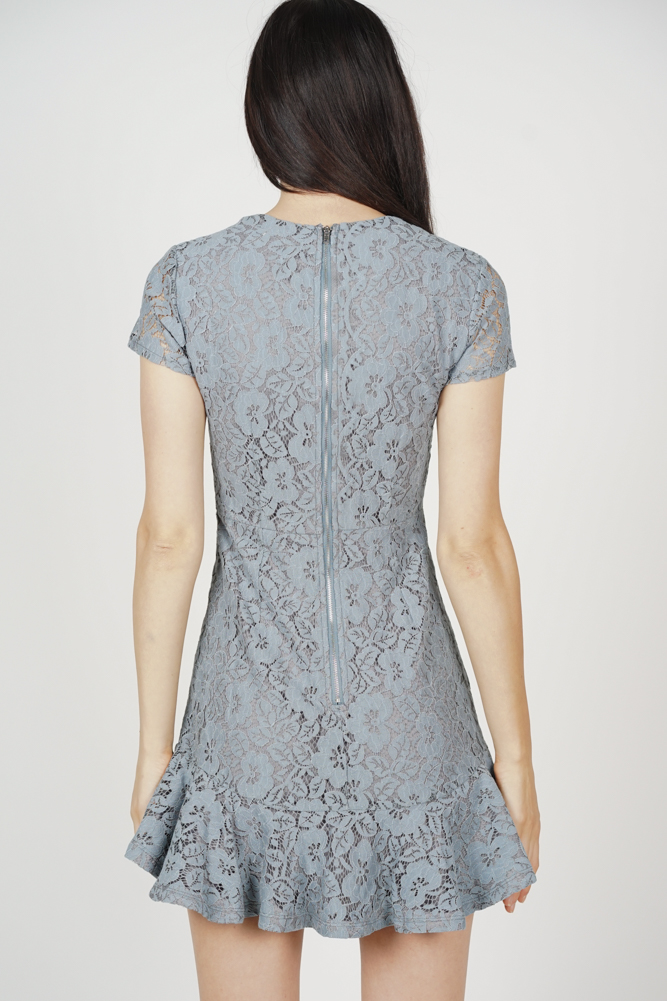 Nataline Lace Dress in Blue
