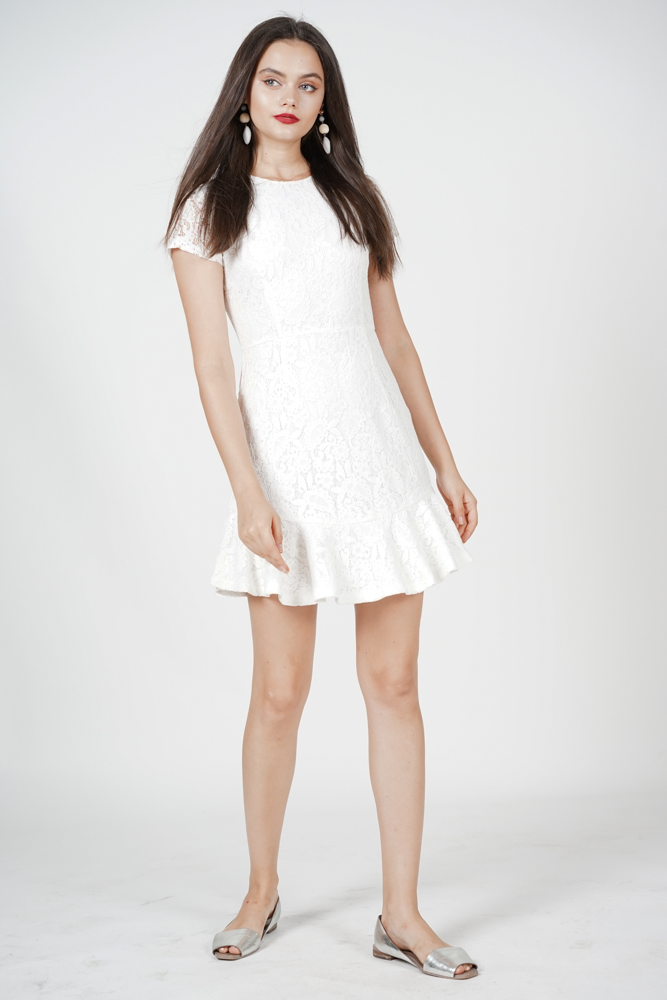 Nataline Lace Dress in White