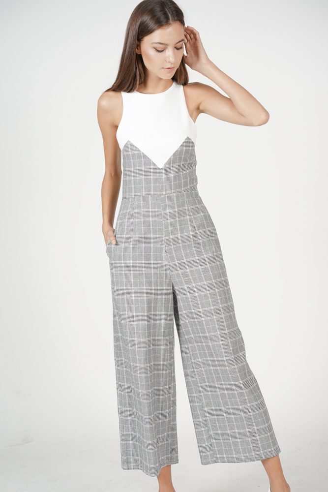 Savina Contrast Jumpsuit in White