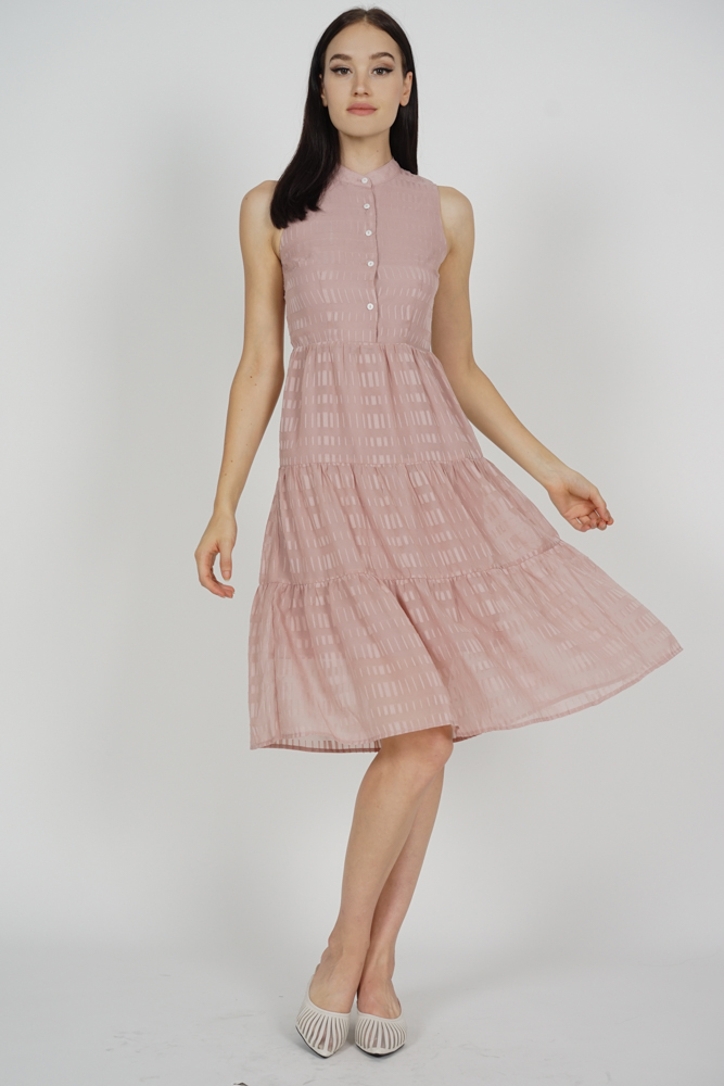 Fabiola Tiered Dress in Pink - Arriving Soon