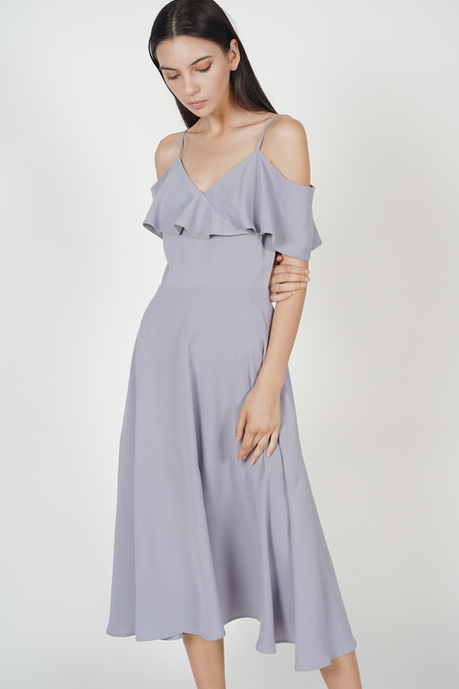 Nephele Ruffled Dress in Lilac