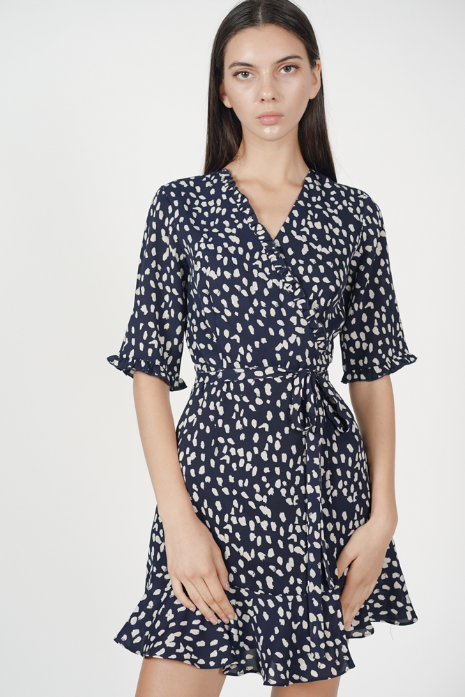 Margherita Wrap Dress in Midnight
