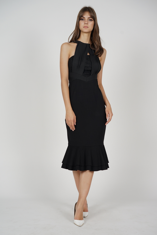 Ouana Halter Dress in Black