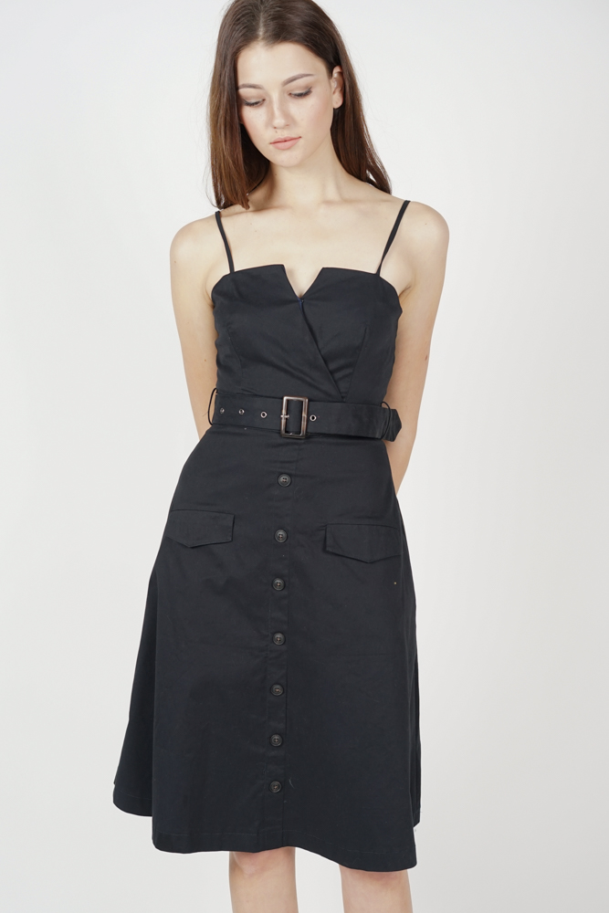 Desmonia Trench Dress in Midnight - Online Exclusive