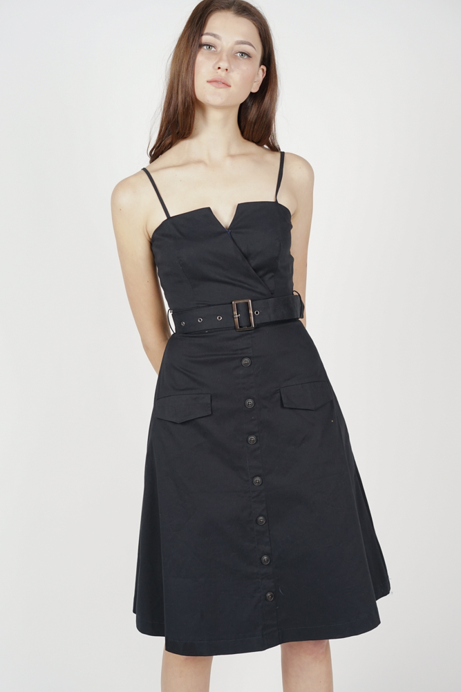 Desmonia Trench Dress in Midnight - Arriving Soon