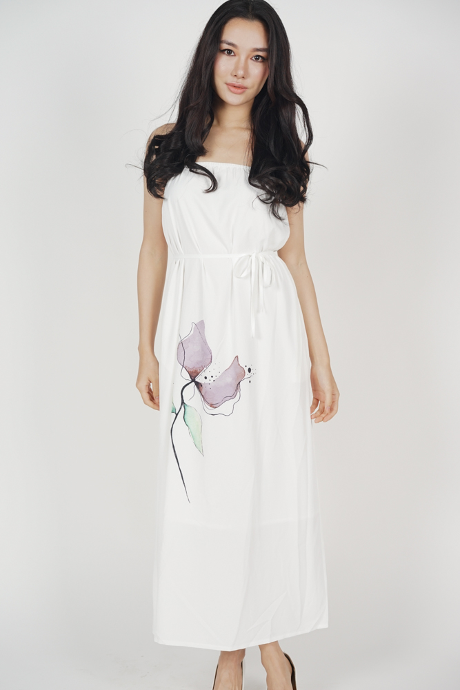 Delena Cami Dress in Ivory