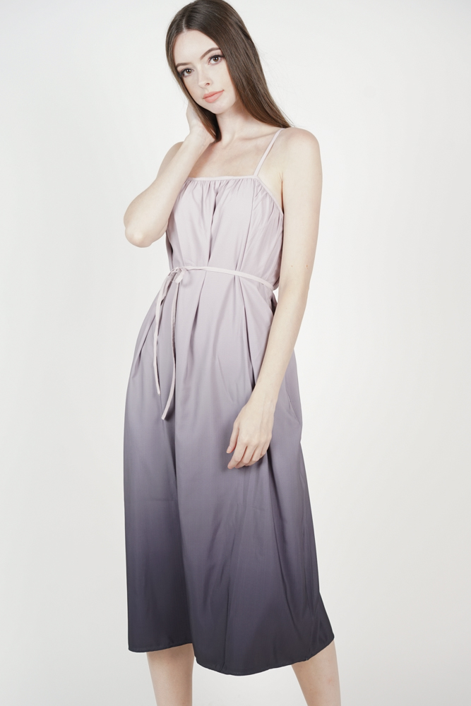 Darley Ombre Dress in Pink Grey