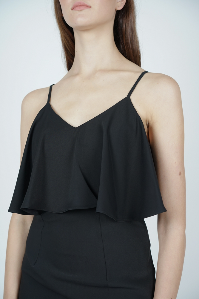 Mallory Overlay Dress in Black