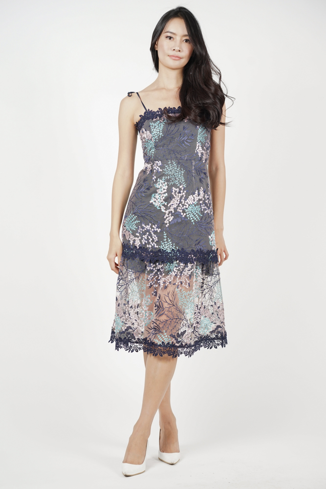 Nerida Lace Dress in Lavender