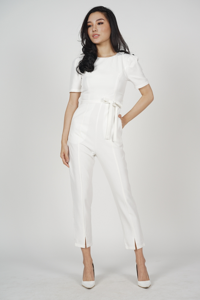 96143c2b8cc Dabria Pleated Jumpsuit in White